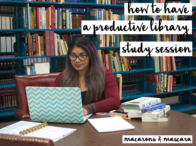 how to have a productive library study session