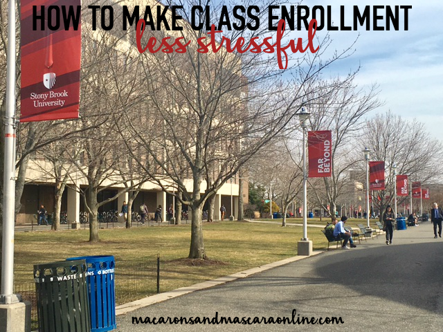 how to make class enrollment less stressful]