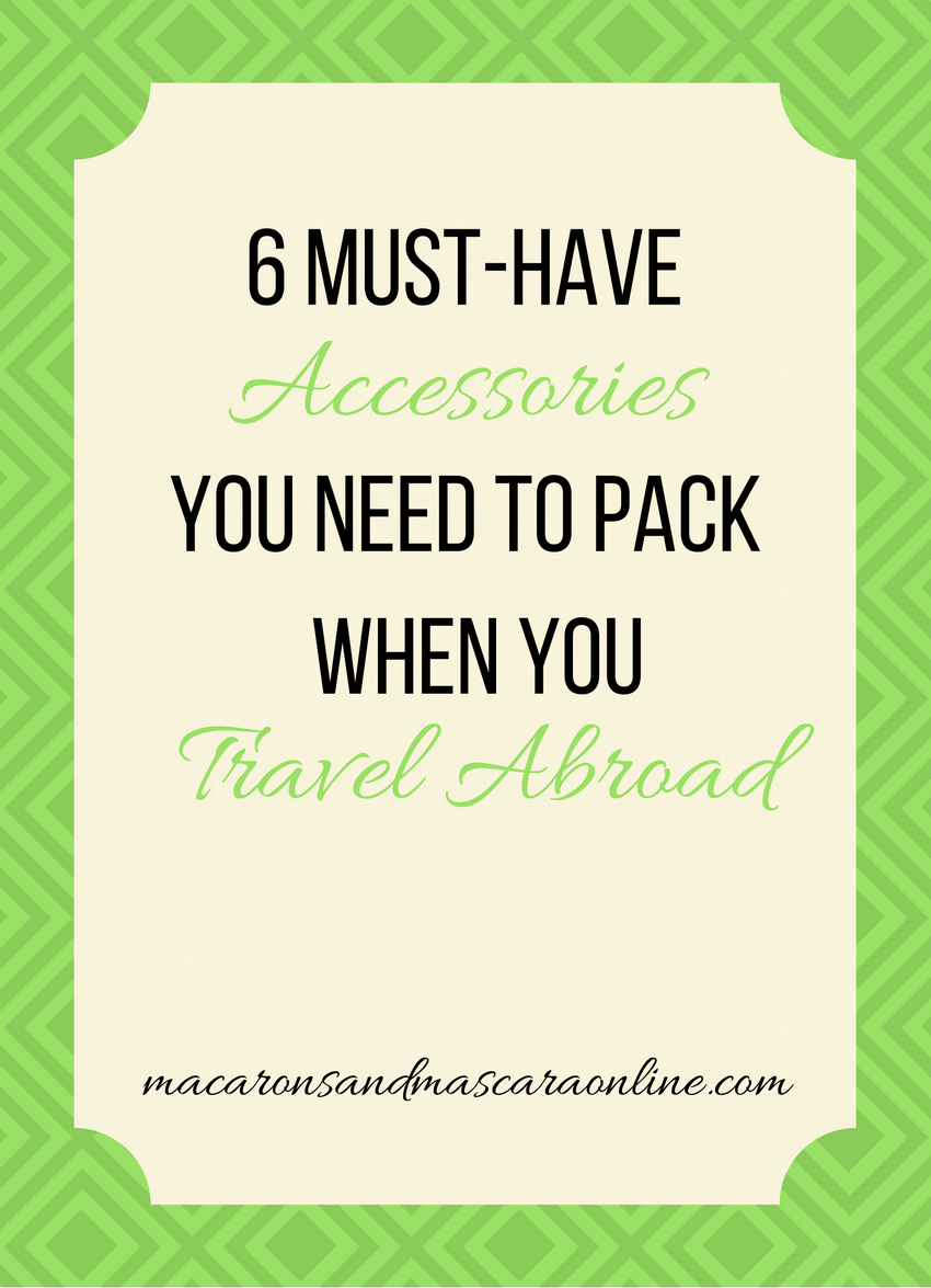 6 Fashion Accessories You Actually Need To Pack For Travel