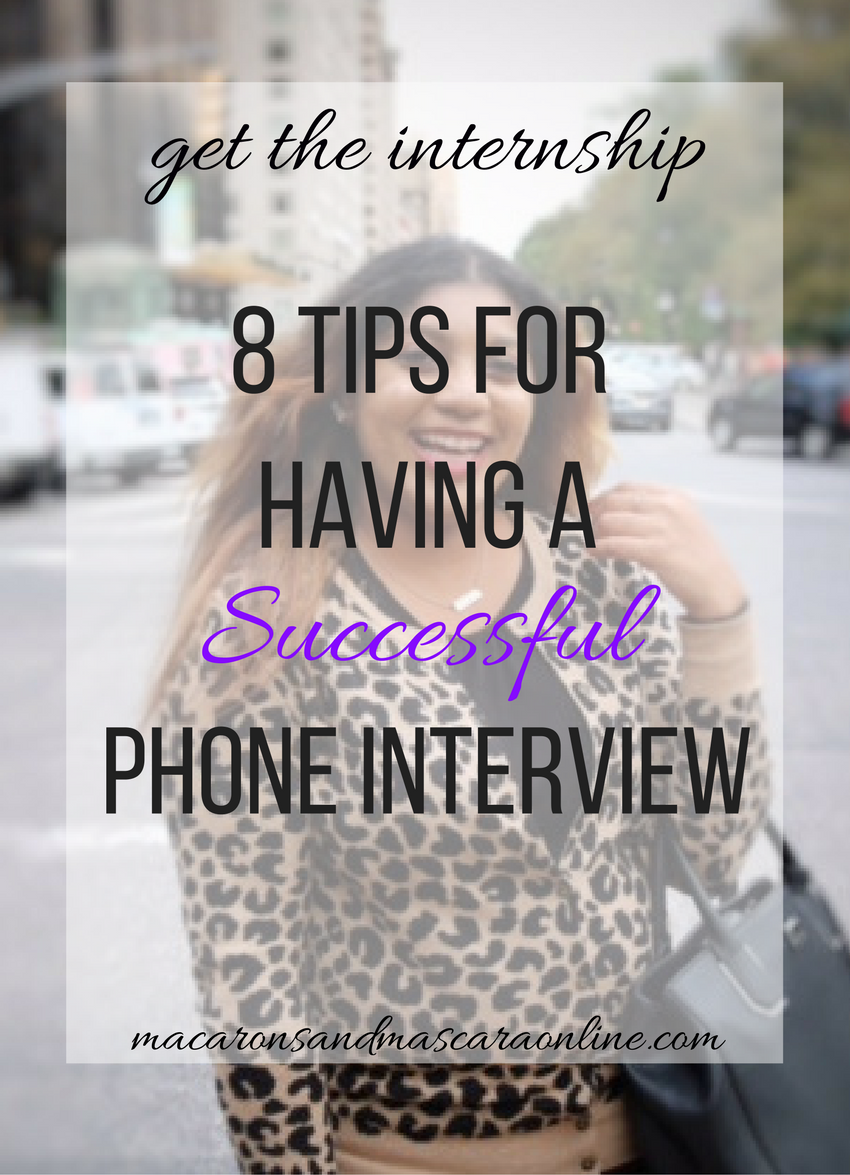 8 Tips For Having A Successful Phone Interview